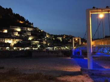 Berat, Albania at Night