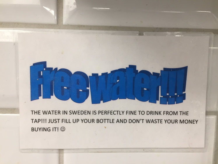 Free Water Sign