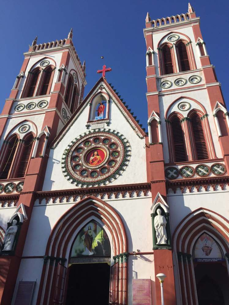 The Sacred Heart Basilica, Pondicherry, India