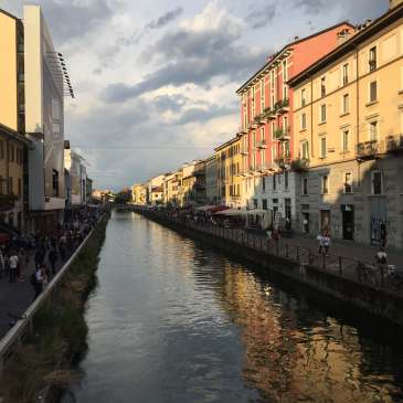 A canal in the Naviglio district of Milan