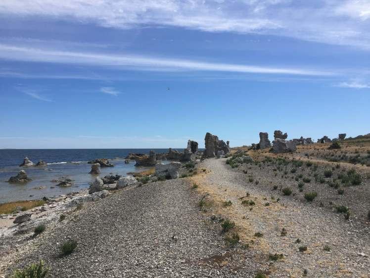 Raukar at Asunden, Gotland, Sweden