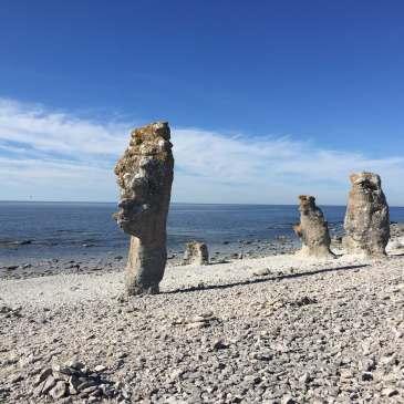 Raukar on Fårö, Gotland, Sweden