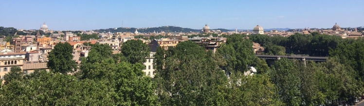 Panorama of Rome from the Aventine Hill