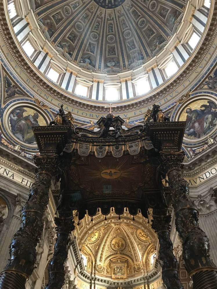 The dome of St. Peter's Basilica in Rome