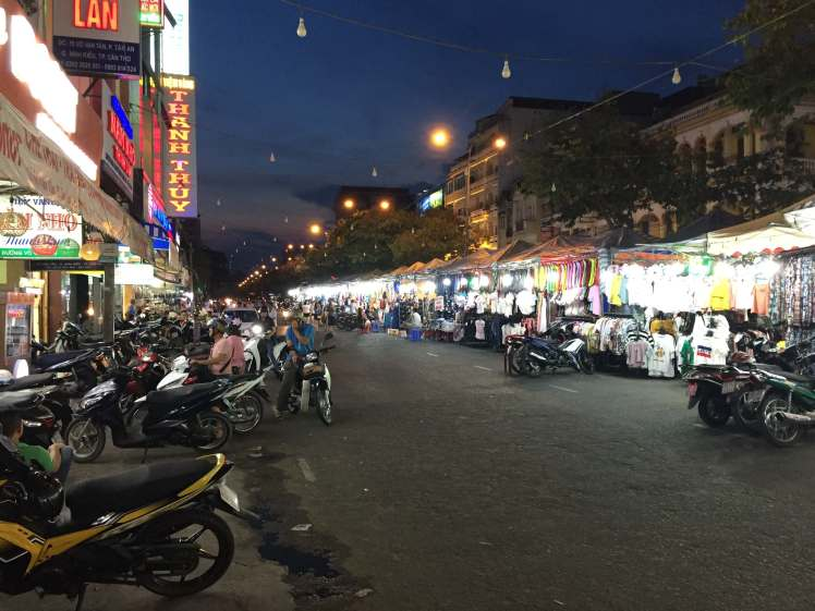 Night Market Street in Can Tho, Vietnam