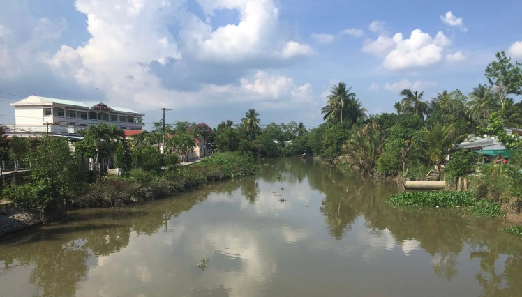 Canal in the Mekong Delta, Vietnam