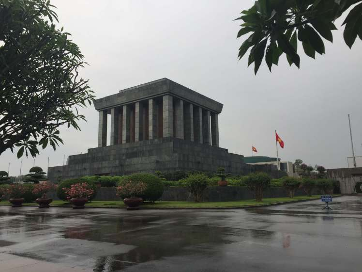 The Ho Chi Minh Mausoleum in Hanoi, Vietnam