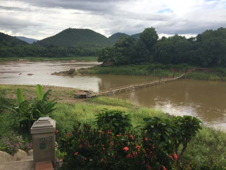 Bamboo Bridge in Luang Prabang, Laos