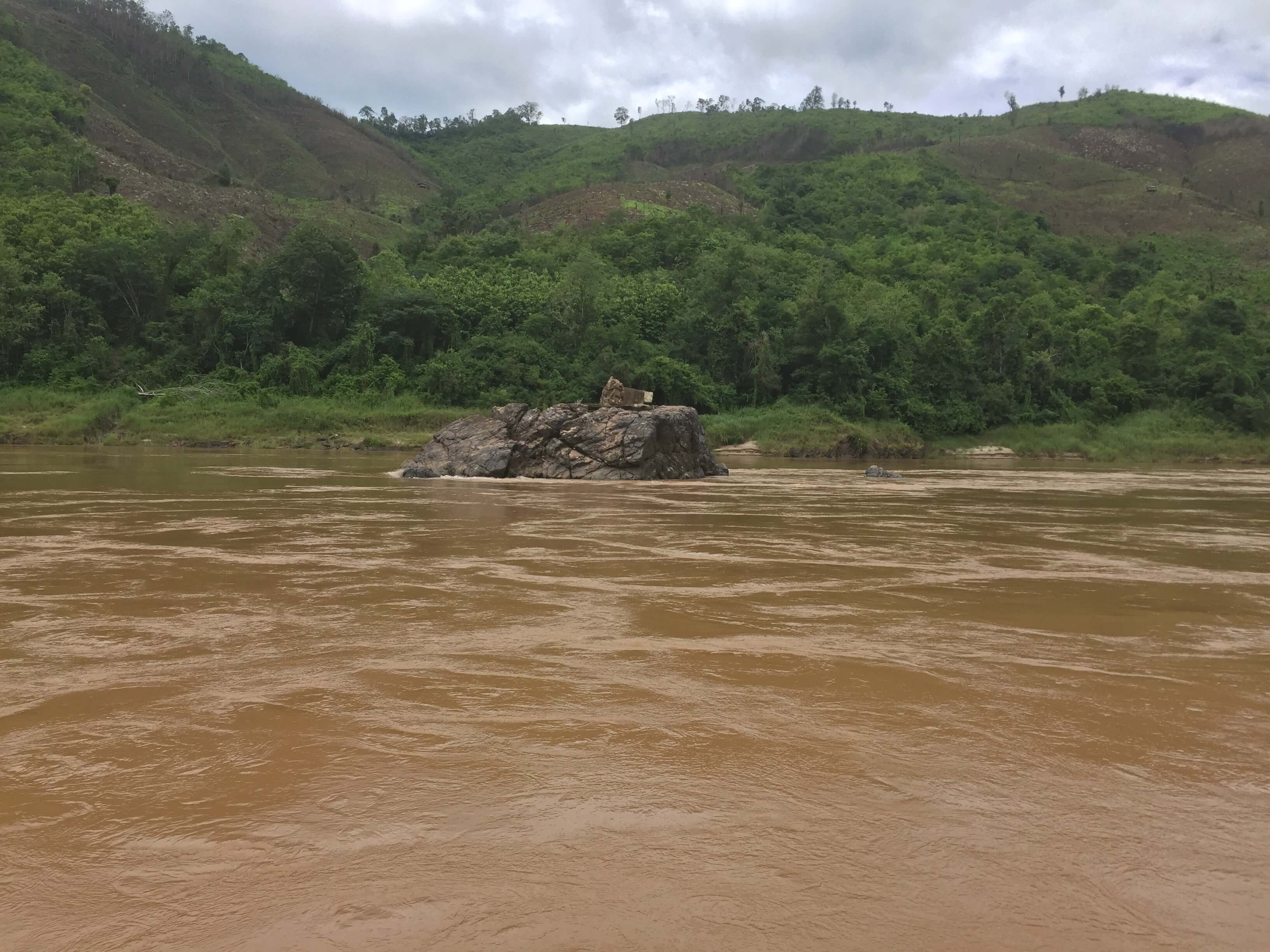 Outcropping on the Mekong River in Laos