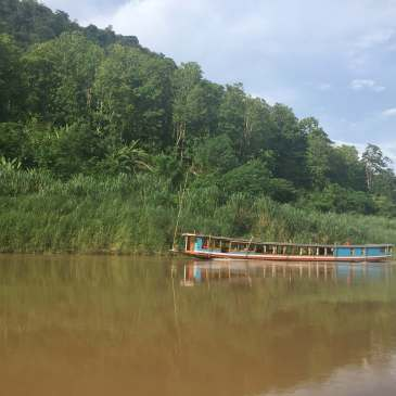 Travel on the Mekong River in Laos