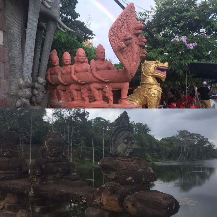 Naga Serpent Sculptures in Cambodia