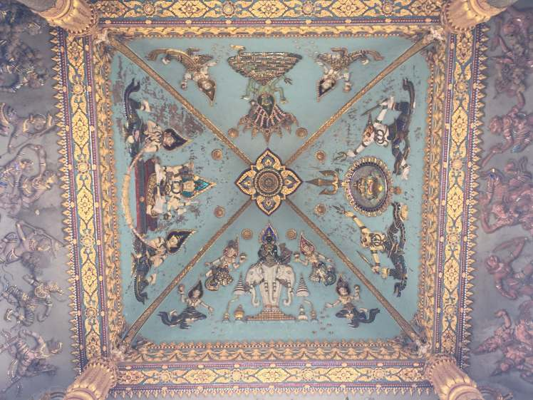 Underside of the Patuxay Monument in Vientiane, Laos
