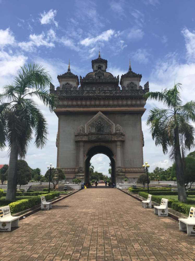 The Patuxay Monument in Vientiane, Laos