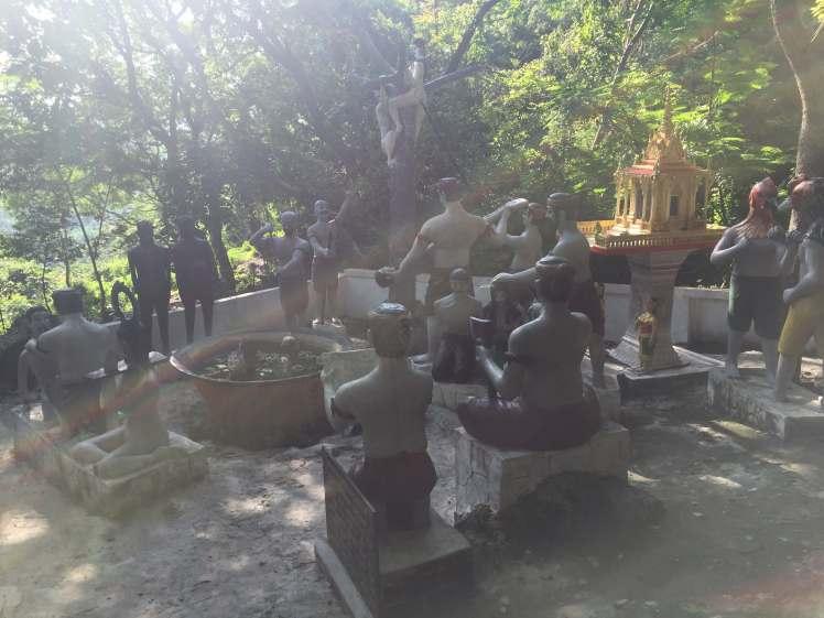 Phnom Sampeau Torture Sculpture Park near Battambang, Cambodia