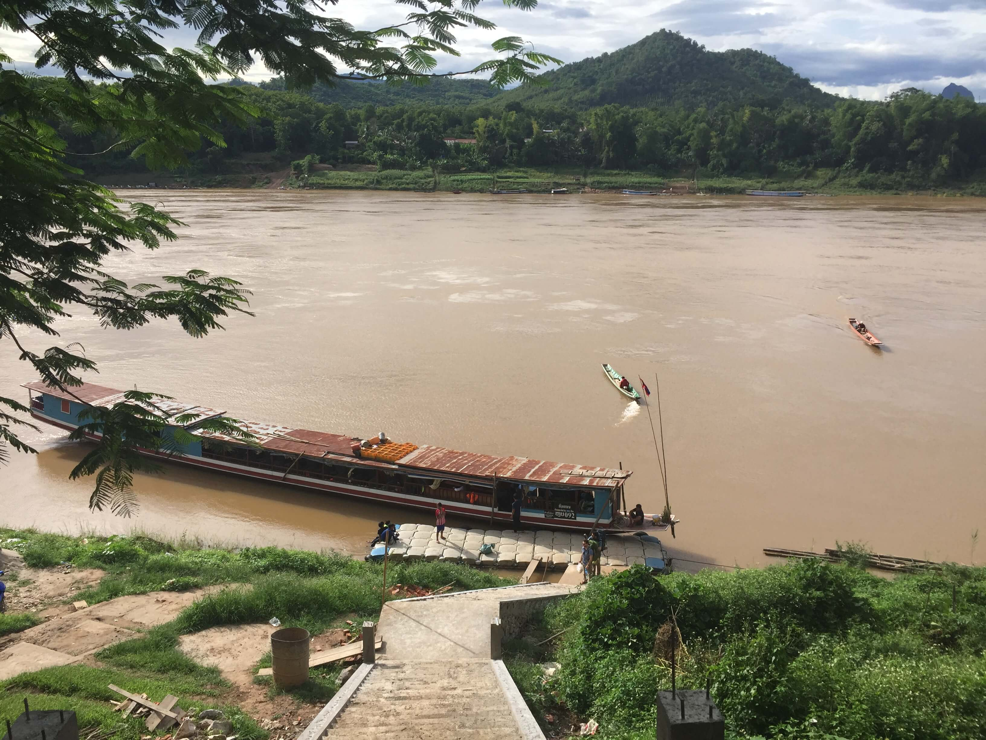 The Port of Luang Prabang in Laos