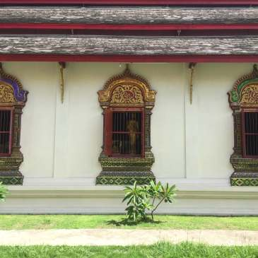 Temple Windows in Chiang Mai, Thailand