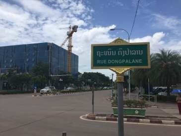 Vientiane Street Sign