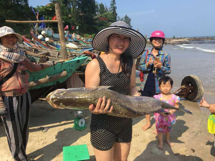 Fishermen in Vinh Moc, Vietnam