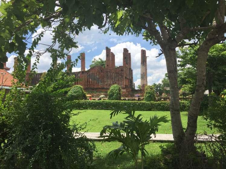 Wat Thammikarat in Ayutthaya, Thailand