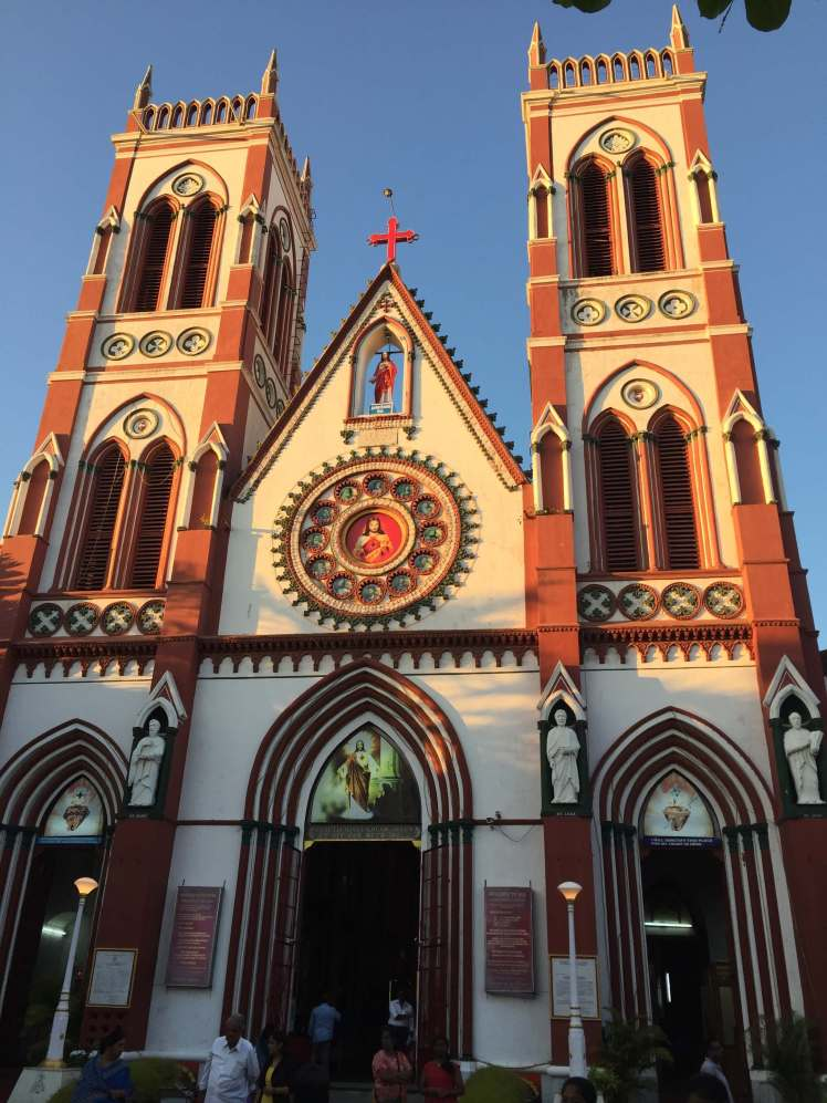 The Basilica of the Sacred Heart of Jesus in Pondicherry, India