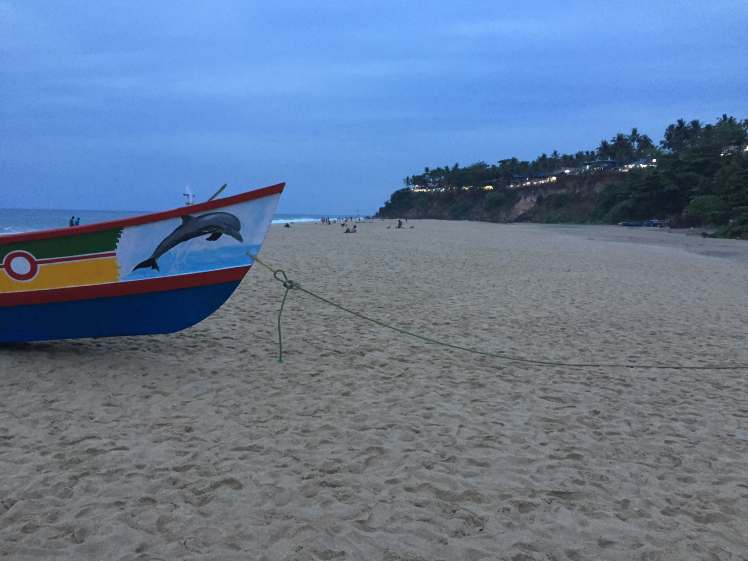 Beach in Varkala, Kerala, India