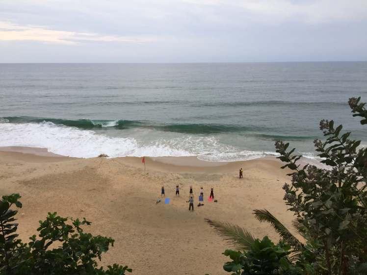 Beach Yoga in Varkala, Kerala, India