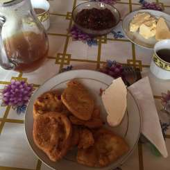 Breakfast in Theth, Albania
