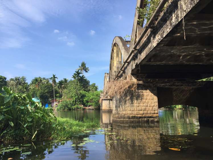 Bridge in the Backwaters of Kerala, India