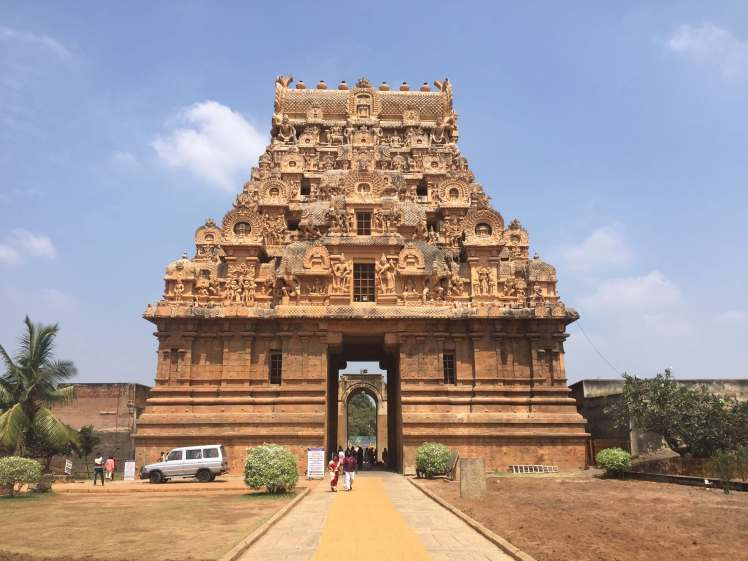 Main Gopuram of the Brihadisvara Temple in Thanjavur, Tamil Nadu, India