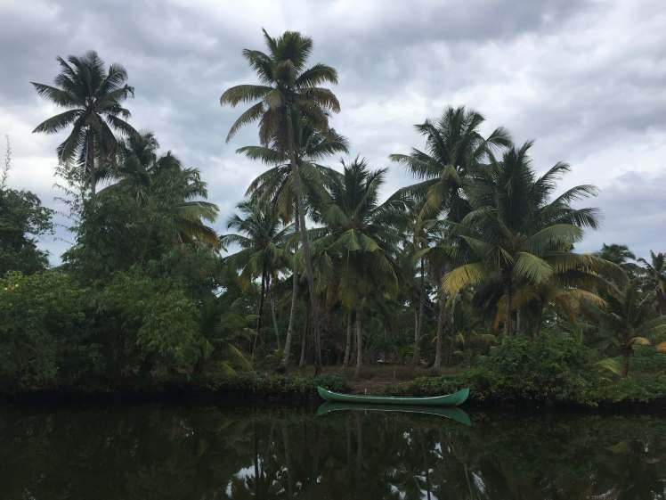 Canoe on the Backwaters of Kerala, India
