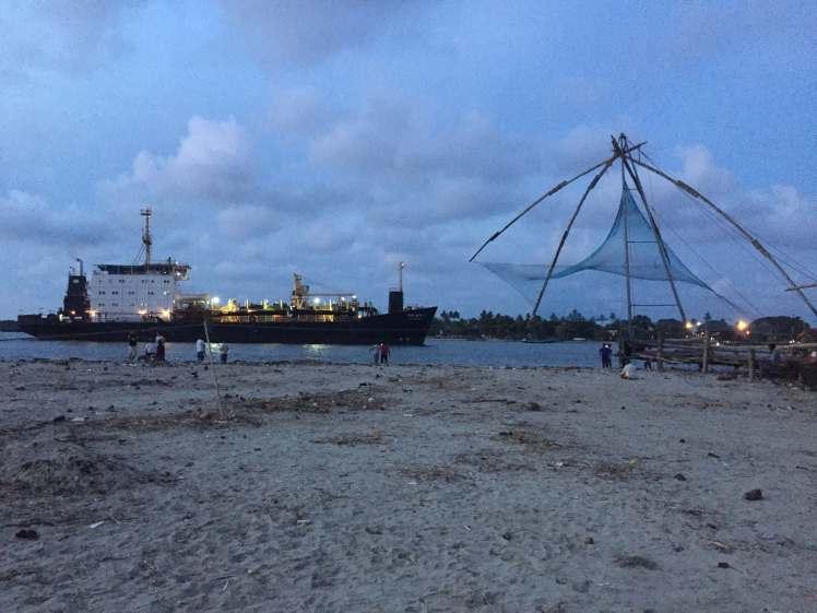 Chinese Fishing Nets in the Port of Kochi, Kerala, India