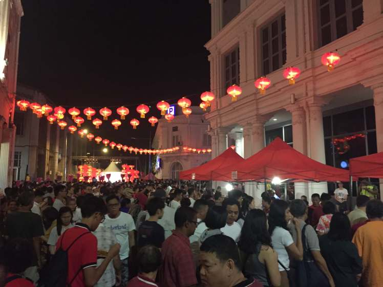 Chinese New Year Celebration on Beach Street in George Town, Malaysia
