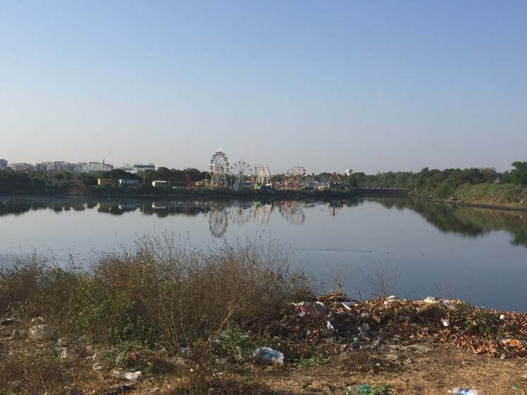 Cooum River in Chennai, Tamil Nadu, India