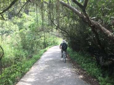 Dad Cycling on Cat Ba Island, Vietnam