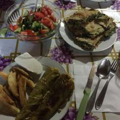 Dinner in Theth, Albania