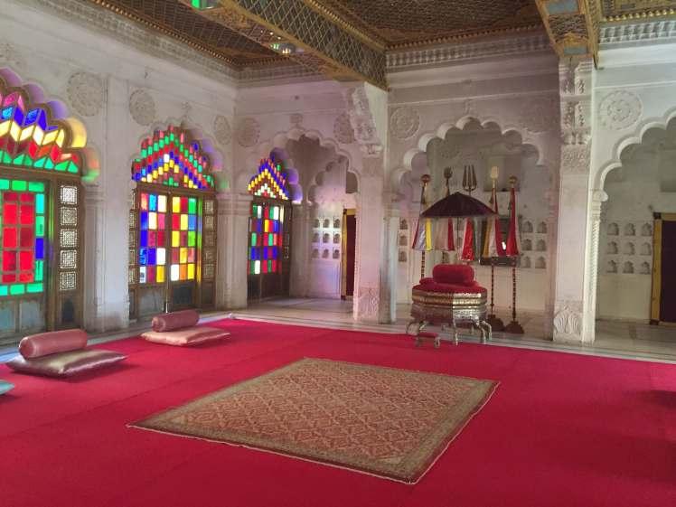 Durbar Hall in Mehrangarh Fort in Jodhpur, Rajasthan, India