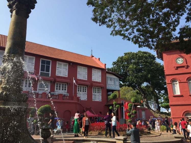 Dutch Square in Melaka, Malaysia