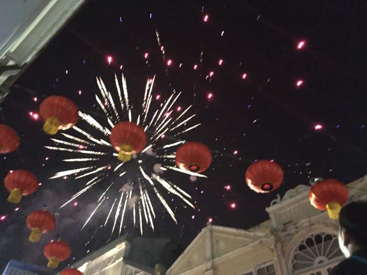 Chinese New Year Fireworks over George Town, Malaysia