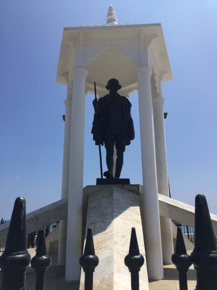 The Mahatma Gandhi Statue in Pondicherry, India