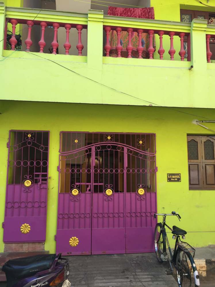 Green and Purple House in Pondicherry, India