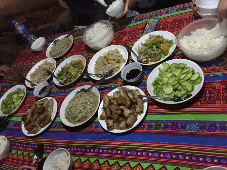 Guesthouse Dinner in Sapa, Vietnam