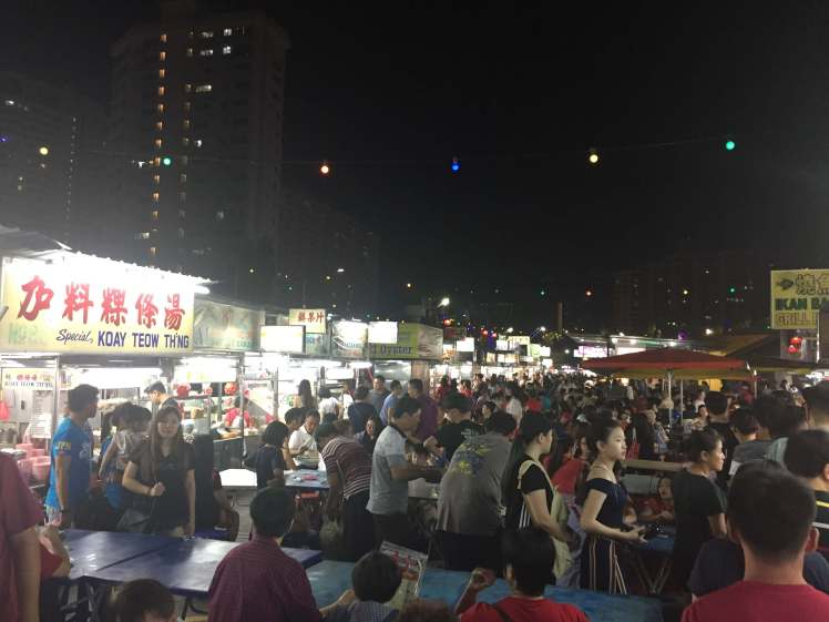 Gurney Drive Hawker Centre in George Town, Malaysia