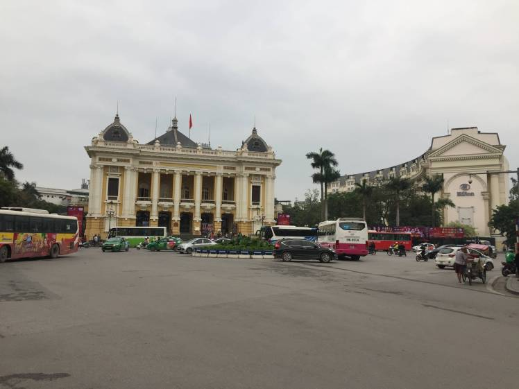 Opera House and Hilton Hotel in Hanoi, Vietnam