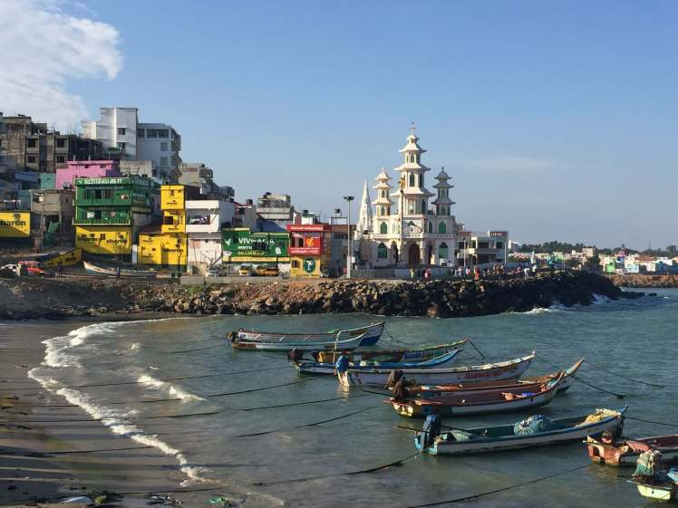 A Harbor in Kanyakumari Town, Tamil Nadu, India