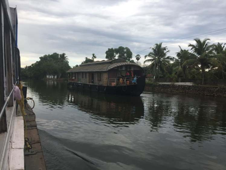 Houseboat in the Backwaters of Kerala, India