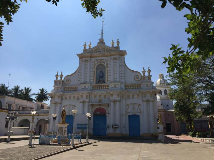 The Immaculate Conception Cathedral in Pondicherry, India