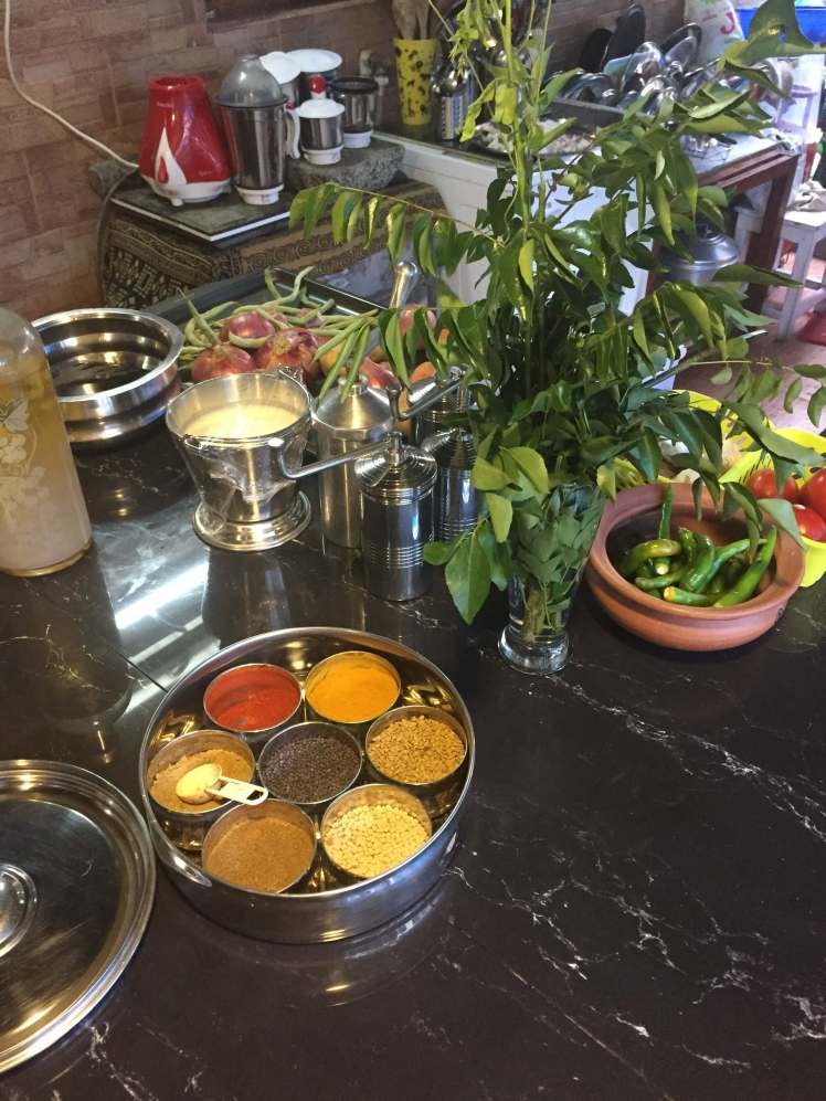 Ingredients of Kerala at Nimi's Cooking Class in Munnar, Kerala, India