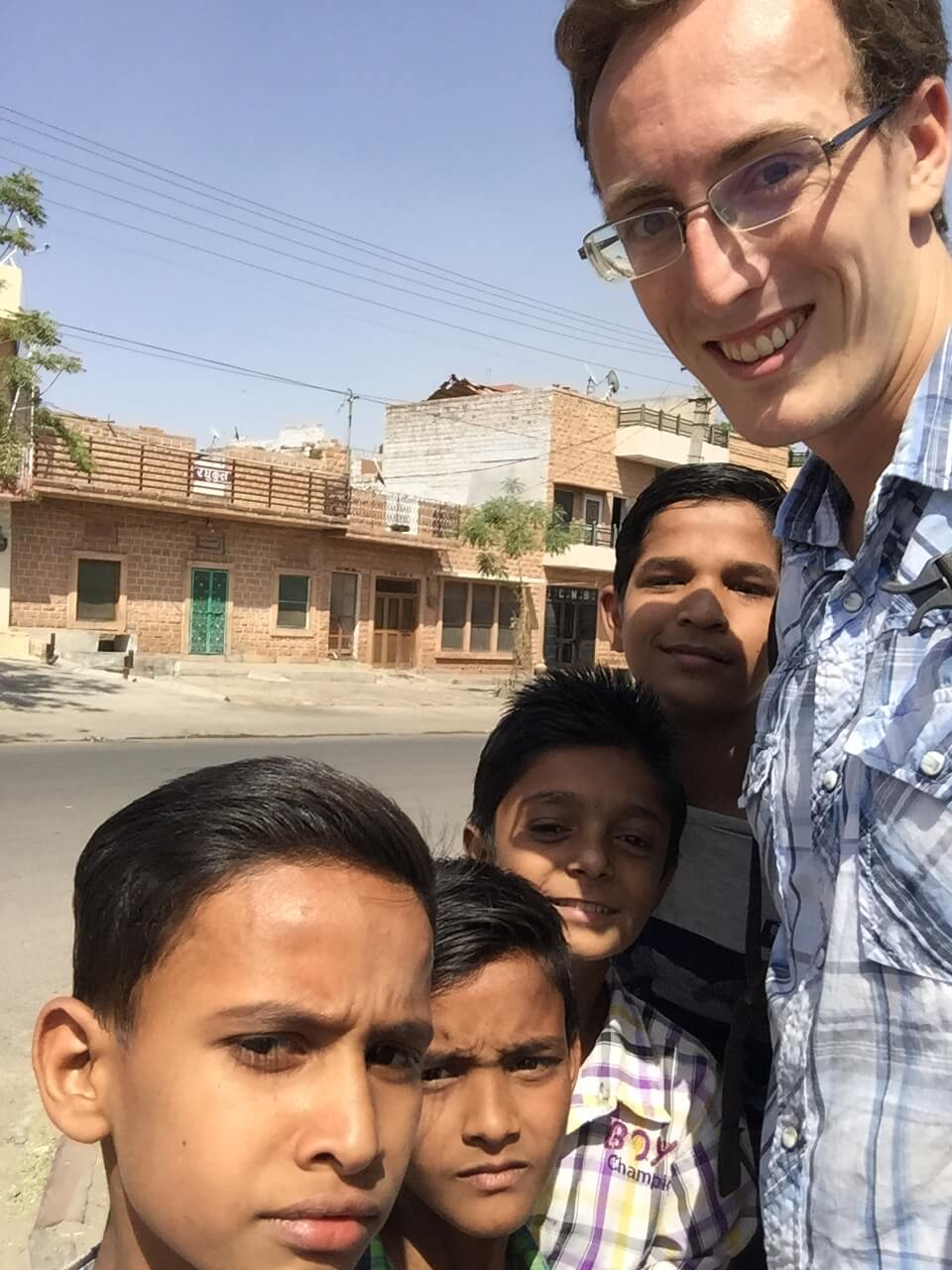 Selfie with Kids in Jodhpur, Rajasthan, India