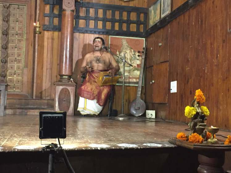 Kathakali Music Demonstration at the Kerala Kathakali Centre in Kochi, Kerala, India