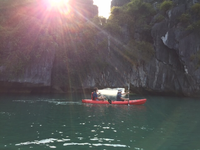 Kayaking in Lan Ha Bay, Vietnam